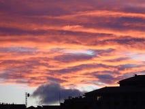 Couleurs sur le ciel en hiver Photo libre de droits