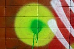 Couleurs sur un mur Photos libres de droits