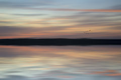 Couleurs vibrantes de paysage abstrait de coucher du soleil de tache floue Images libres de droits