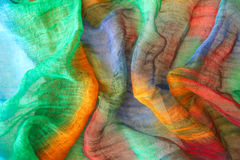 Couleurs vibrantes sur le textile Photos stock