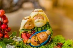 couleurs vives de scène de nativité de Noël Images libres de droits