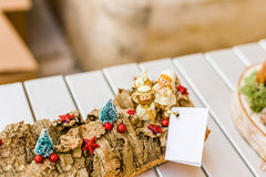 couleurs vives de scène de nativité de Noël Photographie stock