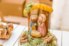 couleurs vives de scène de nativité de Noël Photos libres de droits