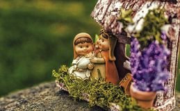 couleurs vives de scène de nativité de Noël Image libre de droits