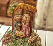 couleurs vives de scène de nativité de Noël Photos stock