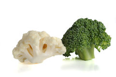 Couliflower und Brokkoli stockbild