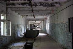 Couloir abandonné à l'objet secret et au x22 ; Duga& x22 ; , Zone de Chornobyl Images libres de droits