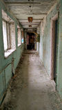 Couloir abandonné dans le pripyat Photo libre de droits