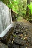 Couloir avec le mur de l'eau en parc national Images stock