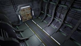 Couloir avec les portes rouillées Image stock