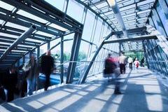 Couloir bleu en métal Photo libre de droits