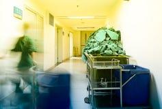 Couloir chaud de lumière-hôpital image libre de droits