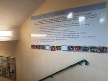 Couloir d'école Photo stock