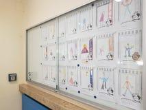 Couloir d'école Images libres de droits