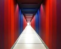 Couloir d'arc-en-ciel photographie stock
