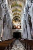 Couloir d'intérieur d'Almudena Cathedral Madrid, Espagne photos stock