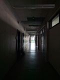 Couloir d'université Images stock