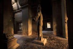 Couloir dans Angkor Wat, Cambodge Images libres de droits