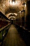 Couloir dans la cave traditionnelle photographie stock libre de droits