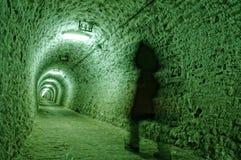 Couloir dans la mine de sel Images stock