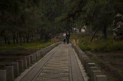 Couloir dans Pékin xiangshan Chine Images libres de droits