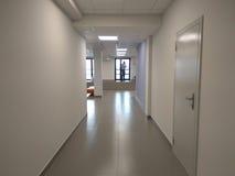 Couloir de bureau de la banque Photos stock
