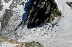 Couloir de glacier de montagne Photographie stock libre de droits