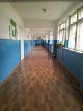 Couloir de lycée Photographie stock libre de droits