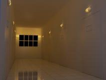 Couloir de nuit Photographie stock libre de droits
