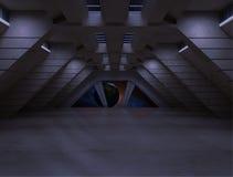 Couloir de Sci fi illustration libre de droits