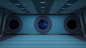 Couloir de Sci fi illustration libre de droits