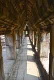 Couloir de temple d'Angkor Photo stock