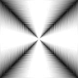 Couloir des lignes blanches sur un fond noir Image libre de droits