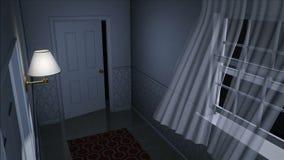 Couloir effrayant de maison illustration libre de droits
