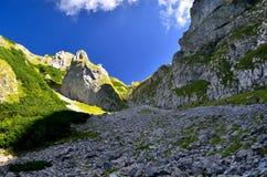 Couloir en montagnes Images libres de droits