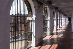Couloir en prison cellulaire, Port Blair photos stock