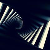 Couloir en spirale tordu noir abstrait Image stock