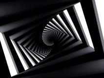 Couloir en spirale tordu par obscurité abstraite Photo stock