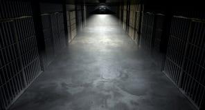 Couloir et cellules de prison photo stock