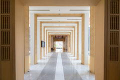 Couloir et décorations Images libres de droits