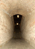 Couloir et escalier de brique Photo libre de droits