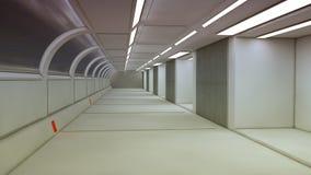 Couloir futuriste d'intérieur de vaisseau spatial Photographie stock libre de droits
