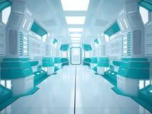 Couloir futuriste de Sci fi Photographie stock libre de droits