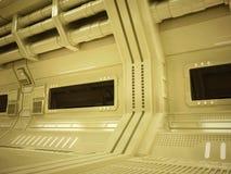 Couloir futuriste de Sci fi Images stock