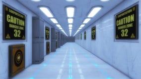 Couloir moderne et futuriste de vaisseau spatial Photos libres de droits