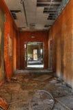 Couloir orange image libre de droits