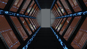 Couloir passant la science-fiction de vaisseau spatial illustration stock