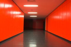 Couloir rouge photographie stock