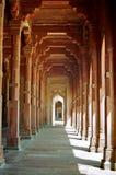 Couloir rouge de fléau de Fatehpur Sikri, Inde Photo stock
