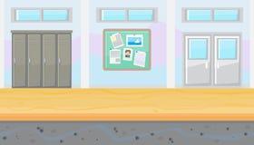 Couloir sans couture d'école pour le concepteur du jeu illustration de vecteur